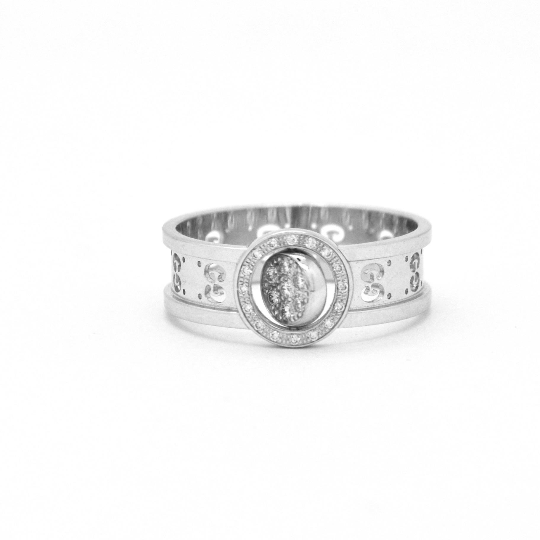 8175d83aec Gucci anello in oro bianco e diamanti icon twirl – MVS Gioielli